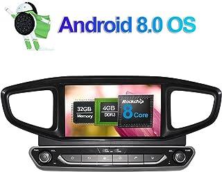 8 Zoll 4GB RAM Android 8.0 Autoradio Stereo CD DVD Multimedia Player für Hyundai Ioniq 2016 /Ioniq Hybrid LHD mit Bluetooth GPS Navigation 32GB ROM Unterstützung FM AM RDS WLAN 4G Kamera Eingang