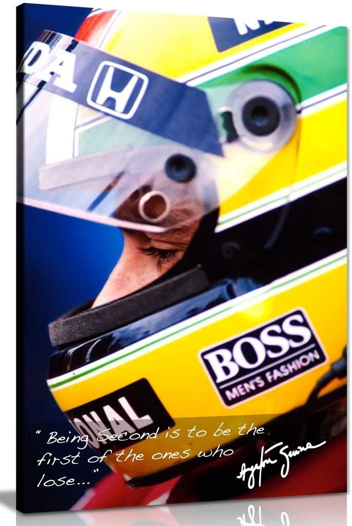 Ayrton Senna Quote Discount mail order F1 Canvas Picture Print Wall 36x24in Art Ranking TOP5