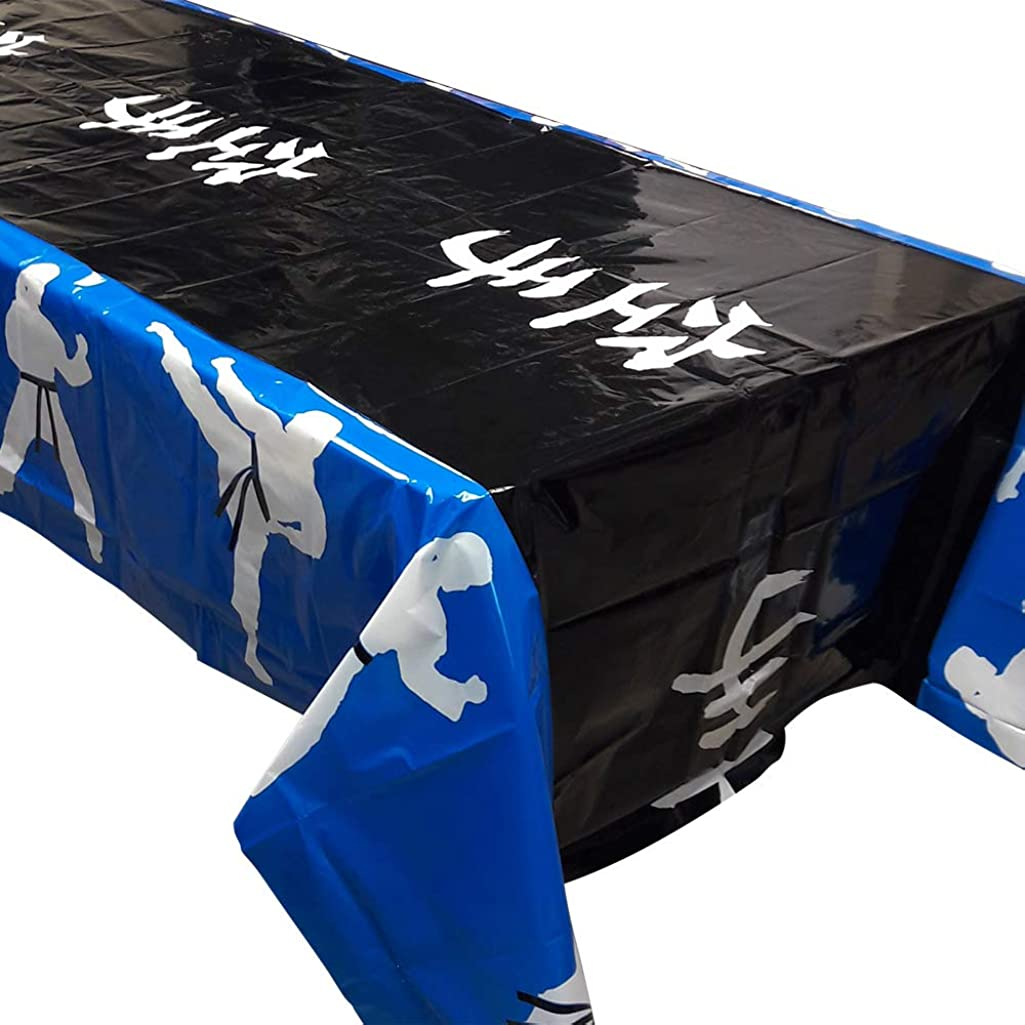 Blue Orchards Karate Party Tablecovers (2), Karate Party Supplies, Party Decorations, Martial Arts Birthday