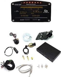 Multifunction Car Dash LCD Display Turbo Boost Exhaust EGT Temp Tacho RPM Gauge Meter 0—100km/h Testing for Racing Car