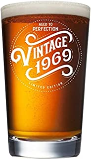 1969 50th Birthday Gifts for Men and Women Beer Glass | Funny Vintage 50 Year Old Presents | 16 oz Pint Glasses Party Decorations Supplies | Best Craft Beers Gift Ideas for Dad, Mom, Husband, Wife th
