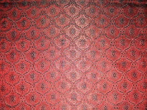 Tela de brocado de seda color rojo indio, 44