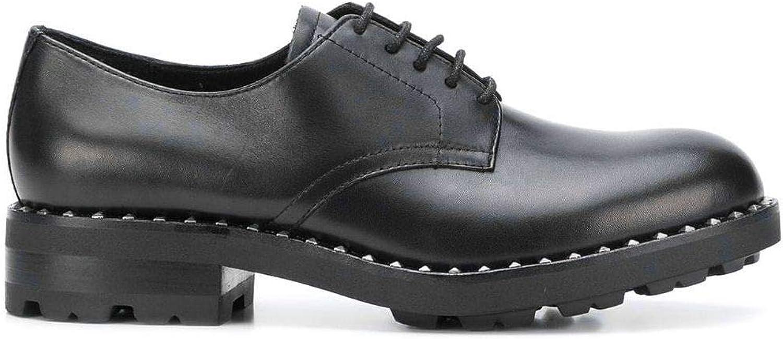 ASH - Whisper schwarz Leather Studded Derby schuhe - - WHISPER01-36  Werbeartikel