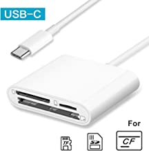 GOLDFOX USB-C SD Card Reader, 3-in-1 SD TF/Micro SD CF Card Reader, USB C Memory Card Reader, Type C OTG Reader Adapter for MacBook, MacBook Pro/Air, iPad Pro 2018, Galaxy S10/S9, Android Cellphones