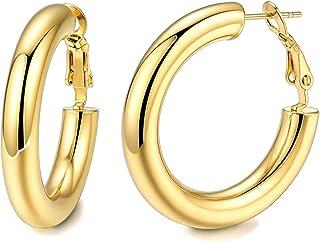 Estado de cuenta oro cuelgan aretes grandes oro pendientes de múltiples