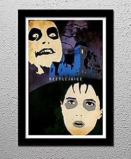 Beetlejuice - Tim Burton - Michael Keaton - Winona Ryder - Original Minimalist Art Poster Print