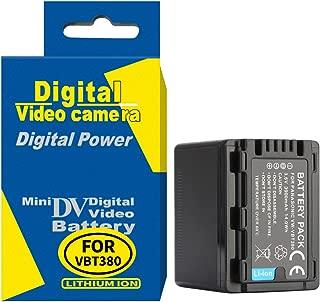 RUISI Digital Replacement Camera and Camcorder Battery for Panasonic VW-VBT380 V720,710,V520, 510,V210,V110 VW-VBT190