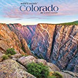 Colorado Wild & Scenic 2021 12 x 12 Inch Monthly Square Wall Calendar with Foil Stamped Cover, USA United States of America Rocky Mountain State Nature