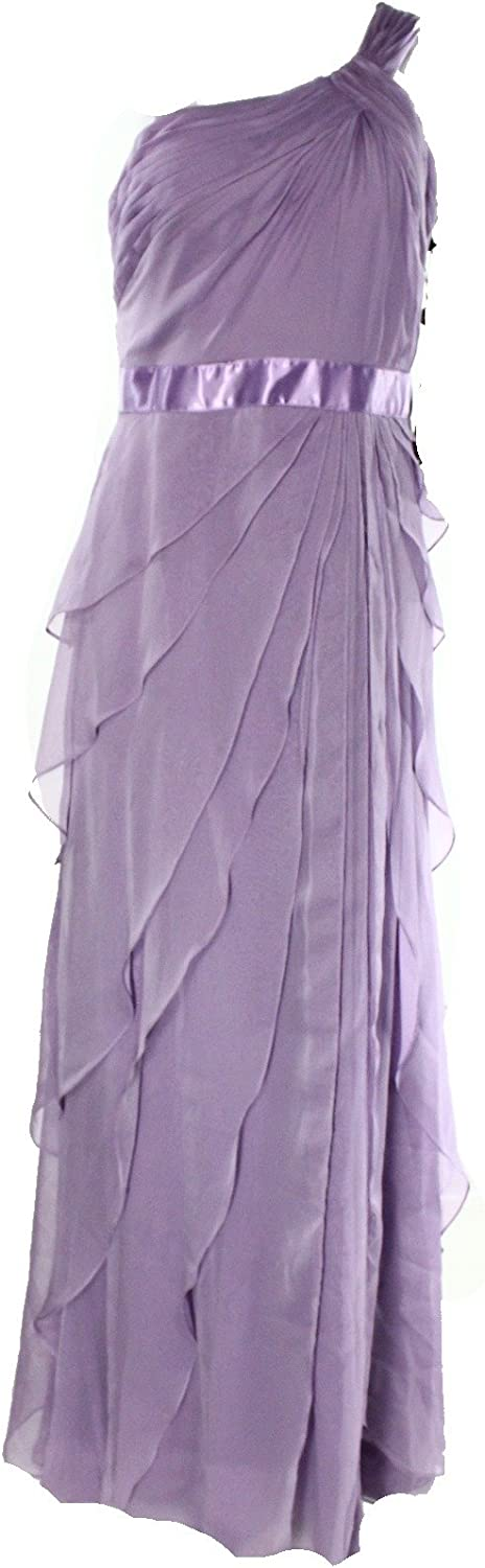 Adrianna Papell purplec Womens Tiered Ball Gown Dress