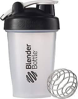 BlenderBottle C00581 Classic Shaker Bottle, 20-Ounce Loop Top, Clear/Black