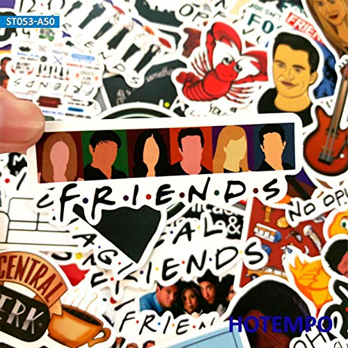 PMSMT 50 unids USA TV Amigos Pegatinas Estilo clásico de Comedia Divertido Seis Personas para teléfono móvil Caja de Equipaje portátil Bicicleta Anime Art Pegatinas