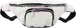 Liliam Unisex Shiny Sequins Fanny Pack Waist Belt Chest Bum Coin Sports Outdoor Bag