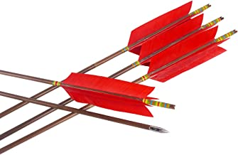 CUPID 31 inch Hunting Bamboo Arrows Target Arrows with 4 5.8