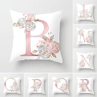 comprar comparacion Tillskuch - Fundas de almohada (26 unidades), diseño de letras inglesas y flores, color blanco