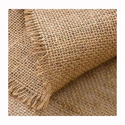 Rollo de Arpillera Natural Tela por Metros de Arpillera Para Manualidades Textiles, Decoraciones - Ancho 150cm(Color:Style1)