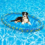 PUPTECK Summer Dog Pool Float - Inflatable Floating Row Bed, Raft for Lake , Water Game Toy for Dogs and Kids