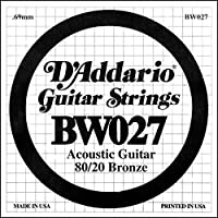 D'Addario ダダリオ アコースティックギター用バラ弦 80/20ブロンズ .027 BW027 【国内正規品】