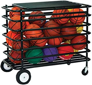 Champion Sports Ultimate Lockable Mobile Ball Locker, Black