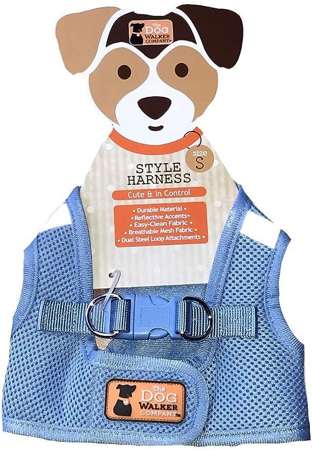 Pink//Black The dog walker company Reflector Accent Harness Medium 15-20 Lbs