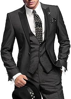 GEORGE BRIDE Herren Anzug 5-Teilig Anzug Sakko,Weste,Anzug Hose,Krawatte,Tasche Platz 002