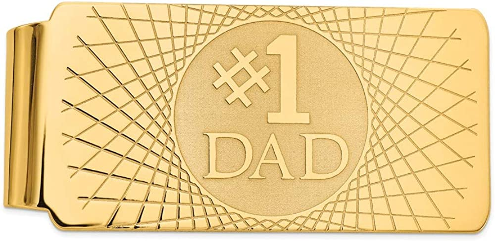 Solid 14k Yellow Gold Brand new Men's Slim Mon OFFicial store Holder Card Credit Business