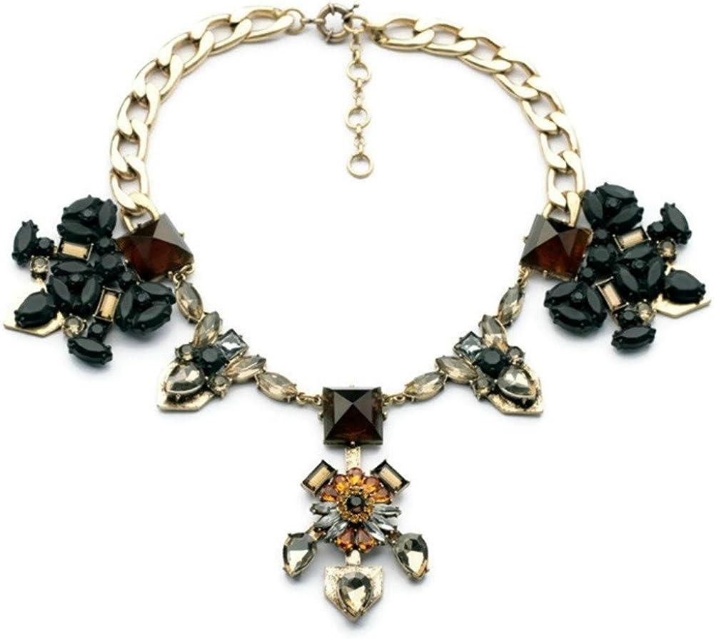 New Shipping Free Shipping MidnightGirls Black Ranking TOP8 Crystal Statement Large Necklace Bib Collar