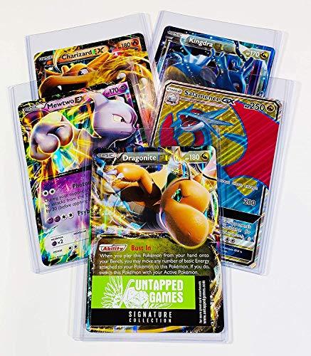 5 Oversized Jumbo Pokemon Cards in TOP LOADERS! - EX GX V - Legendary Full Art