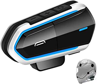 DYTesa - Auriculares para casco de motocicleta, Bluetooth para motocicleta, radio FM, manos libres, respuesta automática, anuncio número de teléfono entrante/música estéreo HD