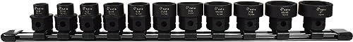 """Astro Pnematic - 11Pc 1/2"""" Drive Low Profile Nano Impact Sockets - SAE (model: 78211)"""