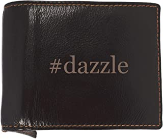 #dazzle - Soft Hashtag Cowhide Genuine Engraved Bifold Leather Wallet