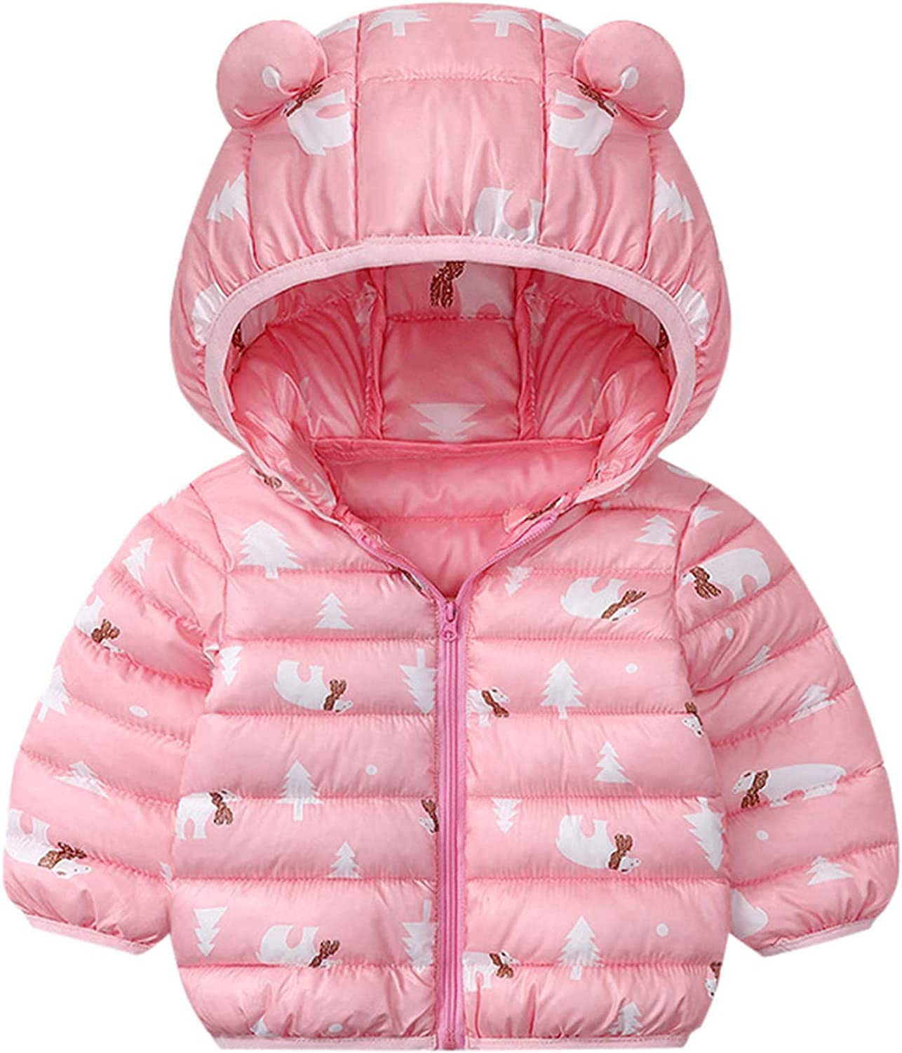Grils Boys Winter Windproof Coat Hooded Warm Outerwear Jacket Zipper Up Jacket Coat Tops with Lined Overcoat Down Parkas