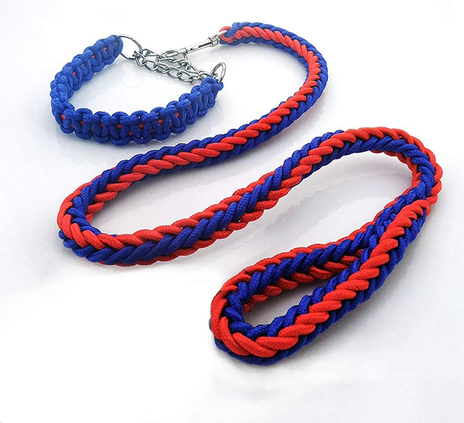 LZRZBH Pet Supplies P Chain Dog Leashes Dog Leash Dog Chain Large Dog Medium Dog Alaska and Other Dog Chains (color   bluee, Size   M)