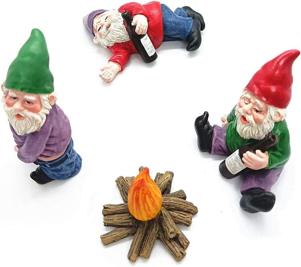 Fresno Mall DUOKEAI 4pcs Miniature Gardening Fair Ornaments Factory outlet Gnomes Figurines