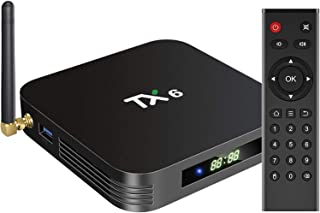 TV Box, TAGUII TX6 Android 9.0 TV Box, 4GB DDR3 32GB EMMC Dual WiFi 2.4G+5G Bluetooth Quad Core 3D 4K Ultra HD H.265 USB3....