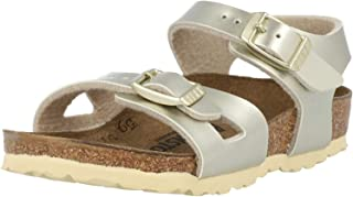 Birkenstock Rio Doré (Electric Metallic Gold) Birko-Flor Bambin Sangle Sandales