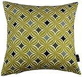 McAlister Textilien Laila Deko-Kissen mit Füllung in Ockergelb Größe 40 x 40 cm mit modernem...