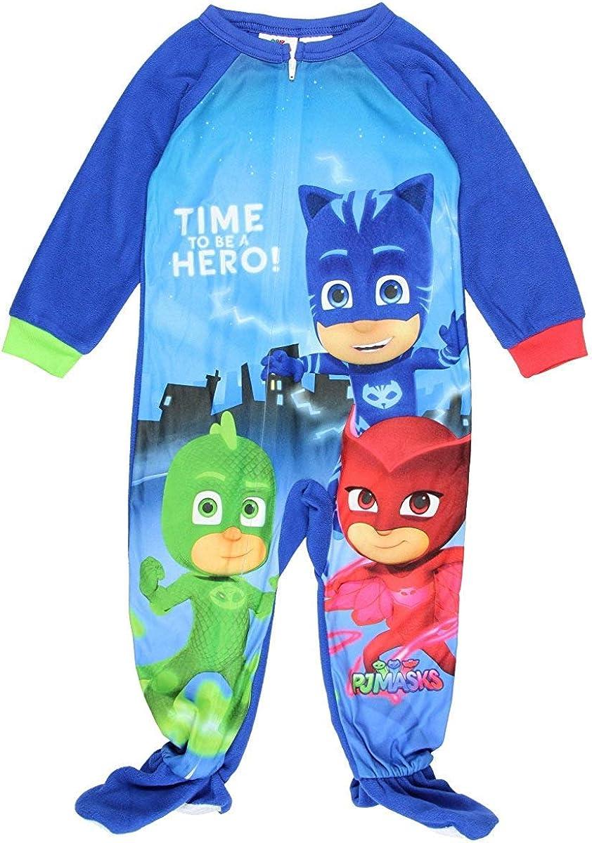 PJ Masks Footed Sleeper Blanket Pajama Boy Size 5T