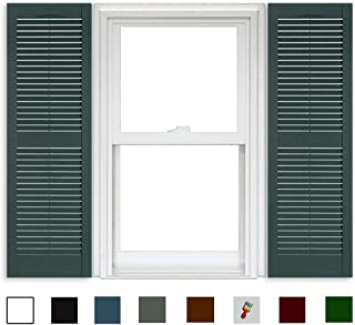Polaris Open Louver Shutters (1 Pair) - 331 Heritage Green - 15