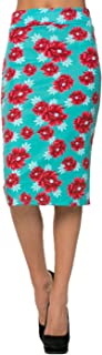 Women's Solid & Multicolor Print High Waisted Pencil Skirt