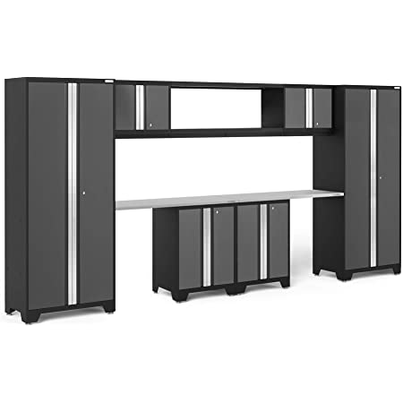 NewAge Products Bold 3.0 Gray 8 Piece Set 50426 Garage Cabinets