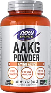 NOW Sports Nutrition, AAKG (Arginine Alpha-Ketoglutarate) Pure Powder, Amino Acid, 7-Ounce