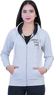 Malachi Women's Cotton Fleece Sweatshirt Zipper Hoodie