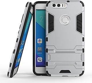 保護フォンケース 実用 Huawei Honor 8 OnePlus 3 LG X電源New 2 in 1 Iron ArmorタフスタイルハイブリッドデュアルレイヤーアーマーディフェンダーPCハードケーススタンド付き[耐震性ケース] (Color : 銀, Size : OnePlus 3)