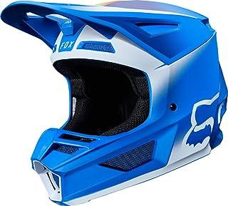 FOX V2 Vlar Motocross Helm Blau/Weiß XXL