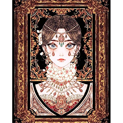 DIY 5D Kits de Pintura de Diamante Adultos Joyería de flores de niña Diamond Painting Kit Round Full Drill Crystal Rhinestone Bordado Punto de Cruz Art Craft Decoración de Pared del Hogar 50x70cm