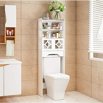 Estante de almacenamiento de baño Cuarto de baño Gabinete de ...