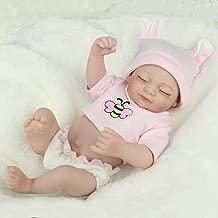 Kaydora Reborn Baby Doll Girl Lifelike Newborn Baby Full Body Vinyl Washable Bathe Partner, 10 Inch Girl Doll, Perfect Size for Ages 2-5