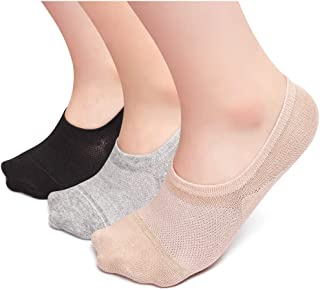 No Show Socks Women, 5-8 Pack Non Slip Cotton Flat Boat Invisible Liner Sports Casual Low Cut Socks Women