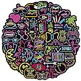 RGBEE Wasserfeste Aufkleber Sticker Set 100 Stücke, Graffiti Decal Vinyl Neon Aufkleber für Laptop Koffer Helm Motorrad Skateboard Auto Fahrrad Computer Vintage Aesthetic Sticker für...