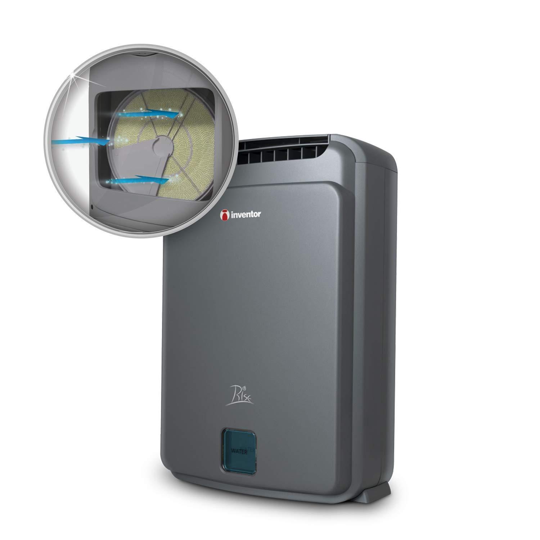 Inventor Rise, Deshumidificador Desecante con Zeolita e Ionizador, 8 litros/día, Modo Turbo, Modo Eco, Silencioso – 2 Años de Garantía: Amazon.es: Hogar